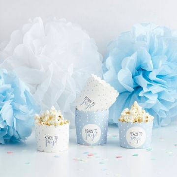 Ready To Pop, Treat Tubs Blue Baby Shower